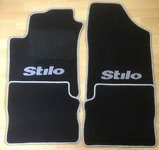 Autoteppich Fußmatten für Fiat Stilo 2001'-2007' schwarz silber 4teilig Neuware