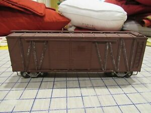 O gauge Brass/Metal and wood 40' outside braced boxcar unknown maker