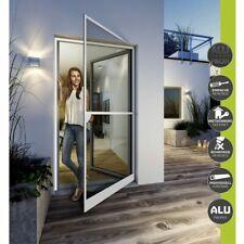 Insektenschutz Tür mit Zarge Fliegengitter 32mm Alu Profil komplett Satz Braun
