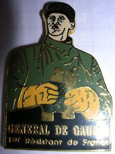 PIN'S  GENERAL DE GAULLE  / 1er RESISTANT DE FRANCE  /  N° 18