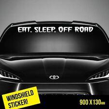 EAT SLEEP OFF ROAD Windshield TOP JDM Sticker