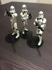 3 Star Wars Clone Troopers loose action figures 2003-2004