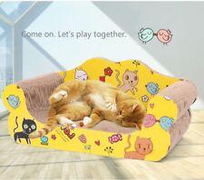 Lounge Chase Sofa Cat kitten Scratching Corrugated Board Toy Scratcher w Catnip