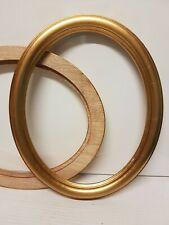 Cornice ovale in legno oro foglia per quadri, foto, stampe,poster ecc. italiane