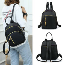 Women Girls Black Nylon Mini Backpack Travel School Backpack Shoulder bags