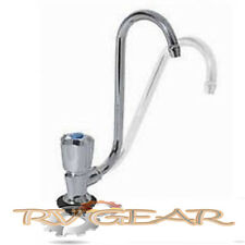 Fold Down Single Tap Chrome plated Left Hand. Caravan motorhome 4x4 Boat Poptop