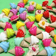 20 Botones con forma de helado -  varios colores - ice cream