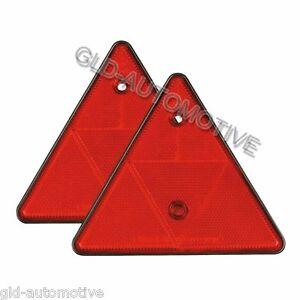 Catarifrangenti Triangolare Rosso Omologato  Rifrangente Auto Camper