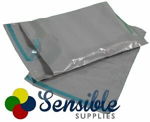 Strong Grey Plastic Mailing Post Poly Postage Bags with Peel Self Seal ALL SIZES