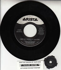 """TAYLOR DAYNE Can't Get Enough Of Your Love 7"""" 45 record + juke box strip RARE"""