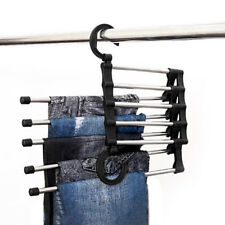Space Saver Hangers Organizer Pant Trouser Stand Rack Magic Hanger 5 In 1 New