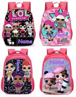 LOL Surprise Girls Personalised School Bag Woman Backpack Rucksack 3M Reflective
