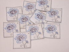 10 x Embroidered Great at 40 40th Birthday Forty Card Making Motif Crafts #12A92