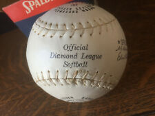 "Spalding Softball Vintage Official 12"" Diamond League #762 Never Used Ball w/Box"
