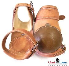 Classic Equine Performance Skid Boots Herman Oak Harness Leather New Free Ship