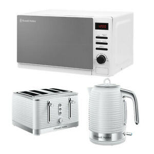 Microwave Kettle Toaster Set White Sale Deal Buy Cheap Russell Hobbs RHM2079A