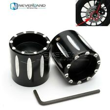 Black Front Axle Cover Cap Nut For Harley Touring Softail Sportster XL883 XL1200