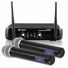 Skytec 179.170 2 Channel UHF Wireless Microphone System Mics Ssc1563
