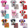 Mädchen Jungen Kinder Mickey Minnie Nachtwäsche Pyjama T-Shirt Hosen Outfits Set