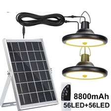 Portable Solar Panels With Lighting Bulb System Garden Camping Energy Generators