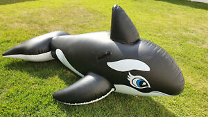 Inflatable Summer Time Whale Intex Replica Ride on Pool Toy Used