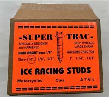 "SUPER TRAC ATV MOTORCYCLE CAR ICE RACING STUDS x 500 1/2"" 779422602184"