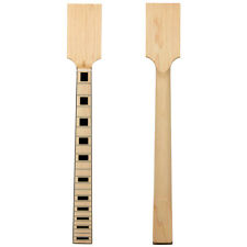 More details for kmise electric guitar neck diy part unfinished maple bolt on 24 fret bone nut