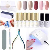 Gel Nail Polish Set + Top Base Coat + 24W UV LED Lamp Kits Manicure Tools Kit