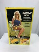 Bobbie Tray VTG Camping/Lawn Chair Food And Beverage Tray Aluminum Frame Rare