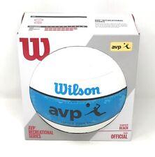 Wilson AVP Bold III Snake Skin Outdoor Volleyball Bright Blue/White