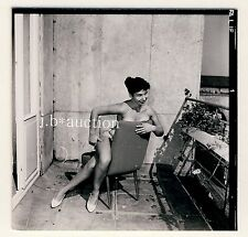 Nude German PINUP GIRL Tanlines/photoshoppare modello * 60s Seufert contact Print #10