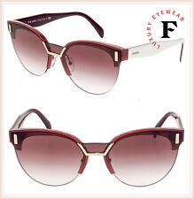 5c8562f19da4 PRADA HIDE PR04US Pink Bordeaux White Cat Eye Gradient Sunglasses 04U  Authentic