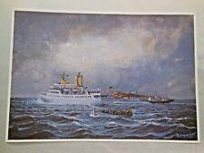 Druck nach Gemälde von Fred Müller / die Wappen von Hamburg / vor Helgoland ( X)