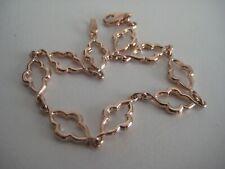 Gold bracelet 9 carat rose fancy