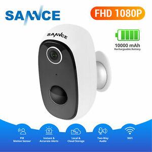 SANNCE 10000mAh Wireless HD 1080P Power Smart Batter IP CCTV Camera Security Kit
