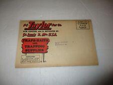 F.C. Taylor Fur Company catalog 1948-49 - St. Louis, Missouri vintage traps