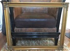 """antique vintage carved and gilded wood frame for painting 35 1/2"""" x 28"""""""