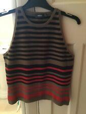 Mexx ladies size l fits size 10 stripe top good condition