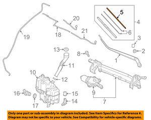 MAZDA OEM 14-15 3 Windshield-Wiper Blade Refill Right BHS367333