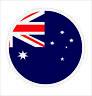 Round Australian Flag Sticker Die Cut Decal Self Adhesive Vinyl Car Bumper Decor