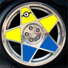 """3SDM 0.05 Minions Wheel inserts stickers 18"""" bbs,pvw minions"""