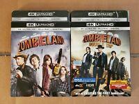 Zombieland 2-Film Set: w/Slipcovers (4K Ultra HD & Blu-ray) No Codes