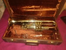 Vintage Olds Ambassador Trumpet 1960s With Case And Olds & Mouthpiece