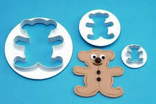 Teddy Bear Cookie Cutter 3 pc Set - NEW - C11