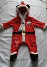 Mickey Mouse - Hooded Santa Suit - Up To 3 Months - Brand New
