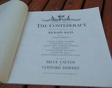 Civil War songs LP, 32pg photos military Robt E Lee, Bruce Catton, Richard Bales