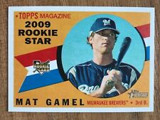 2009 TOPPS HERITAGE MAT GAMEL ROOKIE CARD No.132 Milwaukee Brewers