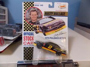 ROAD CHAMPS RUSTY WALLACE COLLECTOR RACE CAR WITH PULLBACK ACTION