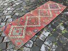 Carpet, Turkish rug, Vintage rug, Handmade rug, Runner, Wool | 1,7 x 5,0 ft