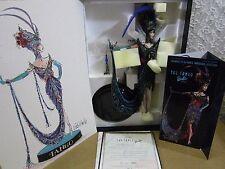 "Bob Mackie ""The Tango"" Porcelain Barbie Doll 1st In Series W/ Fashion Sketch T1"